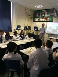 John Green leading the lesson (Photo: AoS)