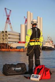 3sun Group renewables technician preparing to go offshore. Photo 3sun