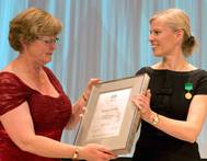 Gunvor Ulstein Receives Award: Photo credit Ulstein Group