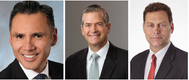 左边:长滩港Noel Hacegaba博士;Gregory Tuthill,SeaCube集装箱租赁;Michael Wilson,合并底盘管理