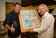Dr. Guy Harvey and Sir Richard Branson (Photo courtesy of the Guy Harvey Foundation)