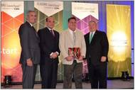 Horizon Shipbuilding, Inc. President, Travis Short receiving Alabama Innovation Award (Photo: Horizon)