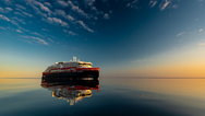 Hurtigruten's MS Roald Amundsen in the Northwest passage - as the first hybrid powered ship to traverse the legendary passage. PHOTO: KARSTEN BIDSTRUP/HURTIGRUTEN