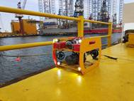 """The iDiver, a Remotely Operated Robotic Diver , performs underwater inspections on vessels and underwater structures, hence eliminating the need for divers to perform hazardous tasks under water."" (Photo: Keppel)"
