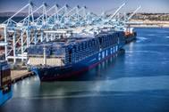 File Image: CMA CGM's boxship Ben Franklin (CREDIT: Marad)