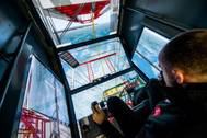Inside the crane simulator (Photo: Peel Ports)