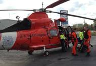Laker medevac: Photo courtesy of USCG