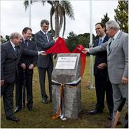 Laying the Foundation Stone: Photo credit Aker Solutions