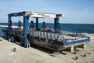 600C Marine Travelift at Mangistau Oblast Boat Yard, Kazakhstan (Photo courtesy Marine Travelift Int. Ltd)