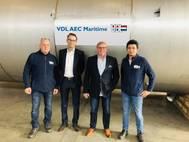 VDL AEC Maritime team (Jacky Raia  – Marvin Hollje – Thomas Krabiell – Wilson Yan) (Photo: VDL AEC Maritime)