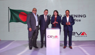 (L-R) are: Mizanur Rahman - Chairman CEVA Bangladesh, Russell Pang – Managing Director CEVA Emerging Markets, Elaine Low – Executive Vice President CEVA Southeast Asia and Mahmud Hussain – Country Director, Bangladesh.(Photo: Ceva Logistics)