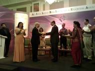 Nadir B. Godrej, MD of Godrej Industries (at left) receiving the award