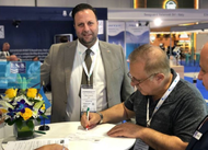 Panos Kirnidis, CEO of PISR with Jamal S Khalil, General Manager, of Al Rafedain Marine Services. (Photo: Palau International Ship Registry)