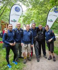 Team ISS on the 3 Peaks Challenge start line on Saturday afternoon.