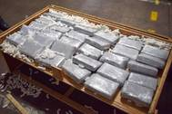 Philadelphia CBP seized 709 pounds of cocaine concealed in furniture shipped from Puerto Rico. (Photo: CBP)