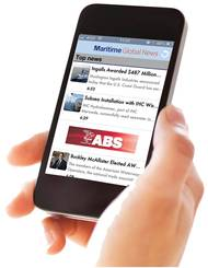 Pictured is our own Martime Global News App, which includes daily news from MarineNews and sister publication Maritime Reporter, has more than 10,000 downloads since its inception.