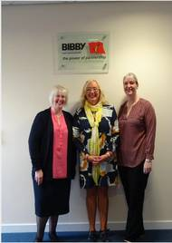Pictured, L-R: Sandra Corrigan of Bibby Ship Management, Mary Doyle of Hospice Isle of Man and Nicky Davenport of Bibby Ship Management (Photo: Bibby Ship Management)