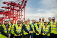 Peel Ports' Chief Operating Officer Gary Hodgson (seventh from left) with the Panamanian delegation (Photo: Peel Ports)