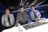 Principals at the interactive display: Photo credit MPA