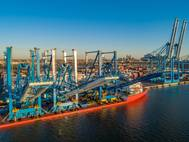 Recent crane deliveries to Greenwich Terminals in Philadelphia, PA / CREDIT: Philaport