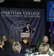 Richard Angerame, President of utiliVisor, being honored by SUNY Maritime College at the 2014 Admiral's Scholarship Dinner