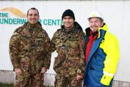 From left to right Beniamino Panduccio, Massimiliano Lai and Paul Bury, ROV Training Manager at The Underwater Center