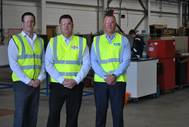 (Left to Right): Mark Fraser – CEO, Mark Cowieson – Services Director, Oteac Ltd and Gareth Forbes - CFO (Photo: Nucore Group)