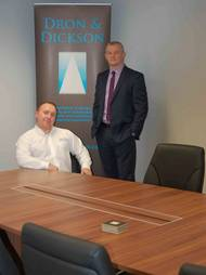Left to right: Lenny Collins HSEQ manager and Bruce McHattie UK wholesales operations manager.
