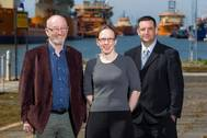 From left to right: Bob Turner, Sarah Turner and Adam Springall (Photo: Romica)