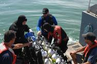 Robert J. Walker wreck investigations: Photo courtesy of NOAA