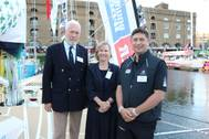 Sir Robin Knox-Johnston, Jan Webber and Tom Bettle (Photo: Sailors' Society)