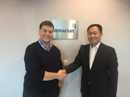 Ronald Spithout, President, Inmarsat Maritime and Eric Sung, President & CEO, Intellian (Photo: Inmarsat)