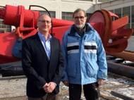Rob Schettle (left) and Gert de Vries