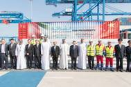 HH Sheikh Hamed attends opening of the CSP Abu Dhabi Terminal at Khalifa Port 3 (Photo: Abu Dhabi Ports)