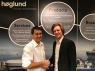 At the signing: Aleksander Beckmann, Aftermarket Sales and Services Manager at Høglund, and Sindre Stemshaug Bornstein, CCO at Yxney Maritime  Photo: Høglund