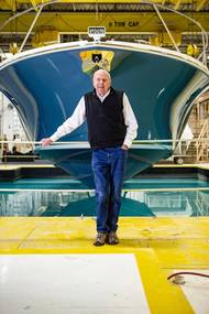 Leon Slikkers, a marine industry pioneer, whose career building boats dates back to the 1940s, is retiring from Tiara Yachts. Photo courtesy Tiara Yachts