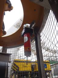 A Sonardyne Wideband Mini-Transponder was installed on the Holland 1 ROV and also on its tether management system.