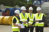 from left:  Stephanie Braid, Base Operator NorSea Group, Chancellor George Osborne, Jakob Thomasen CEO Maersk, Walter Robertson MD NorSea Group UK