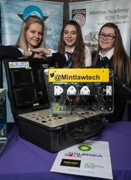 (l-r) Stephanie Buchan, Joanne McDonald and Erin Kindness - Mintlaw Academy (Photo: Subsea UK)