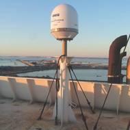 Tracphone antenna: Image courtesy of KVH