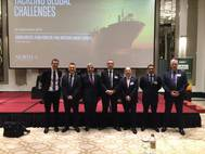 New trading sanctions against Iran and  new fuel rules coming in 2020 for the entire maritime sector were the headlines of a seminar hosted by marine insurer North P&I Club yesterday in Dubai at the Taj Dubai. Photo: North P&I Club.