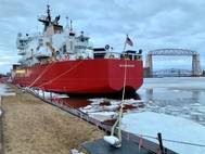 USCGC Mackinaw in Duluth. Credit: port of Duluth