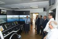 Valentin Rakutins, Director of BSM MTC Cyprus presenting the new bridge simulator (Photo: Bernhard Schulte Shipmanagement)