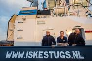 The Venus crew: (left to right) Niels Segelen, Auke de Haan and Wilco Wittekoek (Photo: Damen)