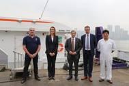 Visitors at the China shipyard: Photo courtesy of Afai Shipyard