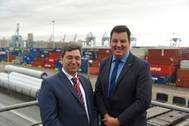 Mark Whitworth (left) and Andrew Percy MP Photo Peel Ports