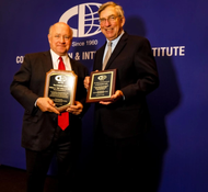 "From left: William J. ""Bill"" Shea, CEO of Direct ChassisLink, Inc and J. Christopher Lytle,  recently retired Executive Director of the Port of Oakland, CA  (Photo: CII)"