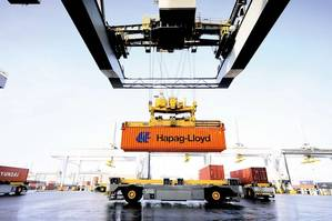 One of a total of more than 1.6 million Hapag-Lloyd containers (TEU). Image courtesy Hapag-Lloyd