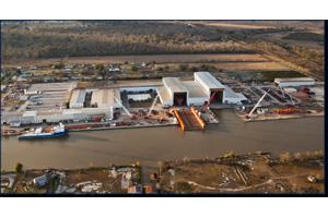 North American Shipbuilding shipyard in Larose, La. (Photo: Edison Chouest)