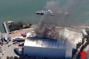 The Royal Australian Navy patrol boat HMAS Bundaberg caught fire while undergoing maintenance in August (Photo courtesy of the Royal Australian Navy)